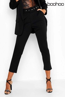 Boohoo Self-Belted Tailored Trouser