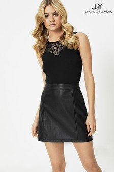 JDY Faux Leather Mini Skirt
