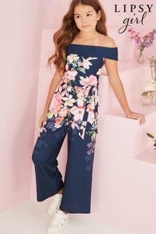 Lipsy Girl Floral Print Jumpsuit