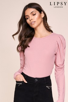 Lipsy Ribbed Ruched Top