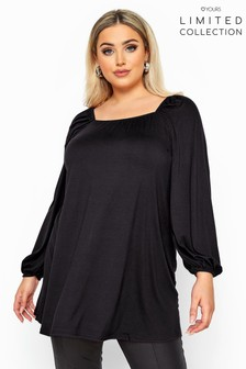 Yours Limited Collection Curve Square Neck Top