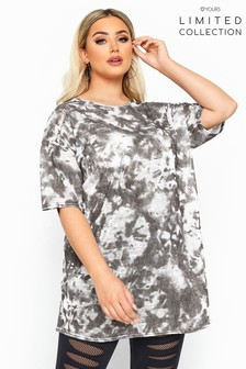 Yours Limited Collection Curve Tie Dye Oversized T-Shirt