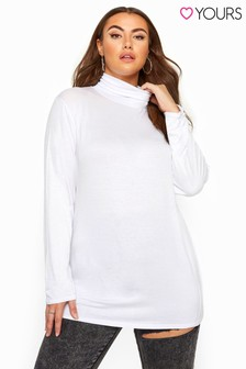 Yours Curve Roll Neck Jersey Top
