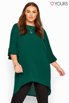 Yours London Curve Flute Sleeve Tunic