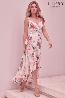 Abbey Clancy x Lipsy Printed Buckle Maxi Dress
