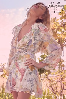 Abbey Clancy x  Lipsy Printed Mini Dress