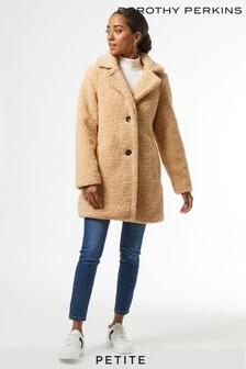 Dorothy Perkins Petites Longline Teddy Coat