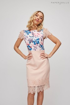 Paper Dolls Lace Hem Dress