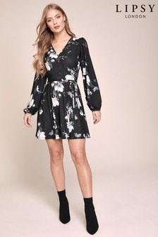 Lipsy Long Sleeve Wrap Dress