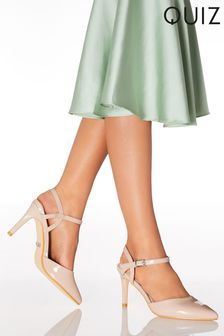 Quiz Open Back Pointed Court Shoes