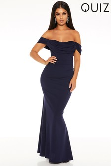 Quiz Ruched Sweetheart Neck Maxi Dress