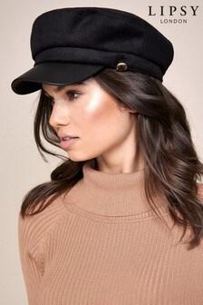 Lipsy Black Baker Boy Hat