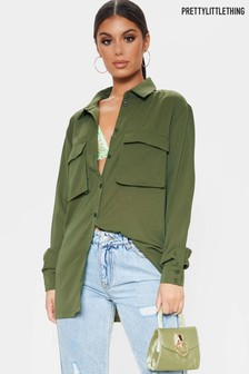 PrettyLittleThing Patch Pocket Utility Shirt