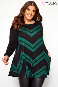 Yours Curve Chevron Pocket Tunic