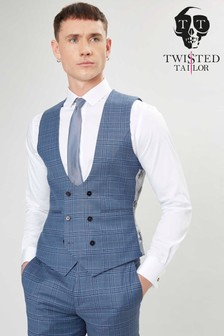 Twisted Tailor Sotherby Check Waistcoat