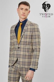 Twisted Tailor Ginger Tartan Suit Jacket