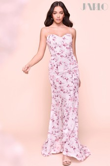 Jarlo Sweetheart Floral Maxi Dress
