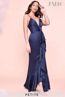 Jarlo Petite Satin Extreme Frill Maxi Dress