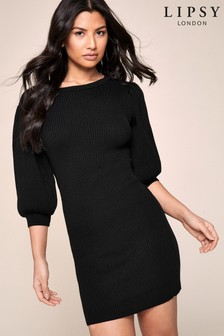 Lipsy Puff Sleeve Dress