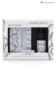The Brighton Beard Co. Aldington Blues Cleansing Beard Oil & Shampoo Gift
