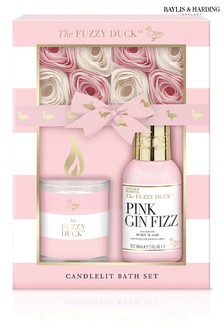 Baylis & Harding The Fuzzy Duck Pink Gin Fizz 3 Piece Candle Set