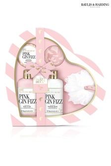 Baylis & Harding The Fuzzy Duck Pink Gin Fizz Large Heart Gift Set
