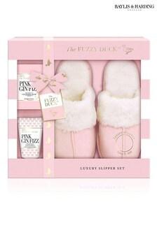 Baylis & Harding The Fuzzy Duck Pink Gin Fizz Large Luxury Slipper Set