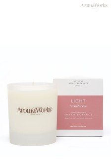 AromaWorks Light Range - Amyris and Orange 30cl Candle