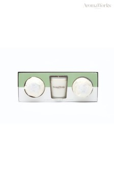 AromaWorks Light Range Lemongrass & Bergamot 10cl Candle & Mini Aromabomb Gift Set