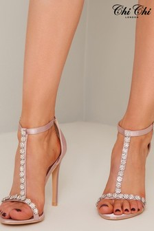 Chi Chi London Leigh-Anne Floral Diamante Heels