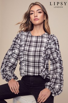 Lipsy Frill Front Top