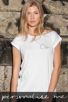 Personalised Cutaway Sleeve T-Shirt by Koko Blossom