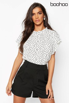 Boohoo Angel Sleeve Blouse