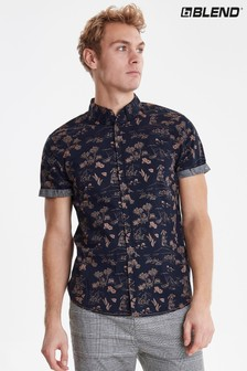 Blend Short Sleeve Slim Fit Shirt