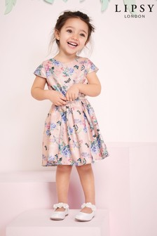 Lipsy Mini Girl Metallic Printed Dress