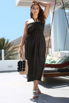 Yours Curve Woven Shirred Dress