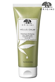 Origins  Hello, Calm Relaxing  Hydrating Mask with Cannabis Sativa Seed Oil 75ml