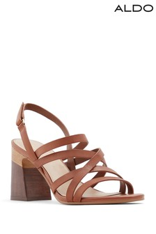 Aldo Sandal With Wooden Stacked Heel Sandals
