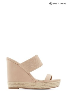 Call it Spring Espadrille Trim Wedged Sandal