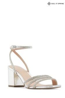 Call It Spring Sandal with Diamante Trim