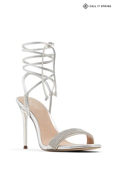Call It Spring Sandal with Tie Up Strap