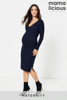 Mamalicious Knitted Maternity Midi Dress