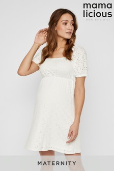 Mamalicious Maternity Square Neck All Over Lace Dress
