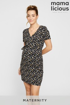 Mamalicious Maternity Printed Nursing Function Dress