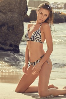 Abbey Clancy X Lipsy Animal Print Bikini Bottom