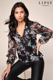 Lipsy Floral Ruffle Blouse
