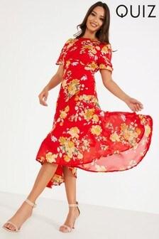 Quiz Floral Midaxi Dress