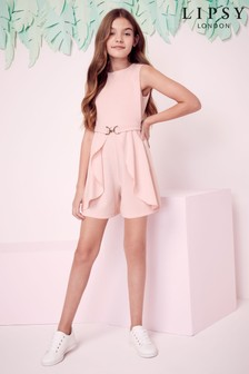 Lipsy Girl Bow Belt Skirt Playsuit