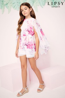 Lipsy Girl Cape Playsuit