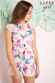 Lipsy Girl Frill Playsuit